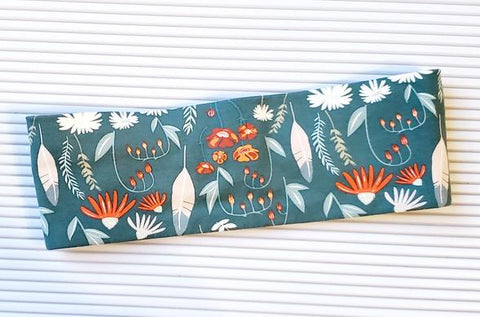 Sage and Rust Floral Headband