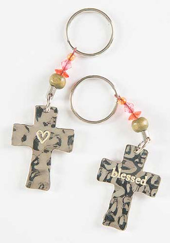 Token Keychain Cross/Blessed
