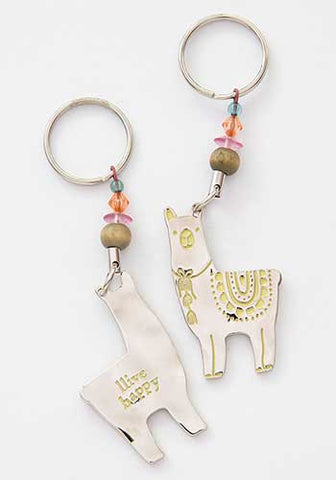 Llive Happy Llama Token Key Chain