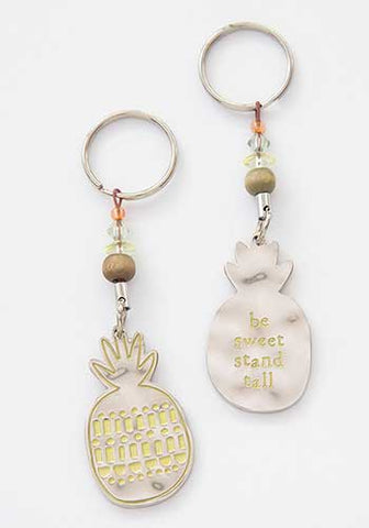 Be Sweet Pineapple Token Key Chain