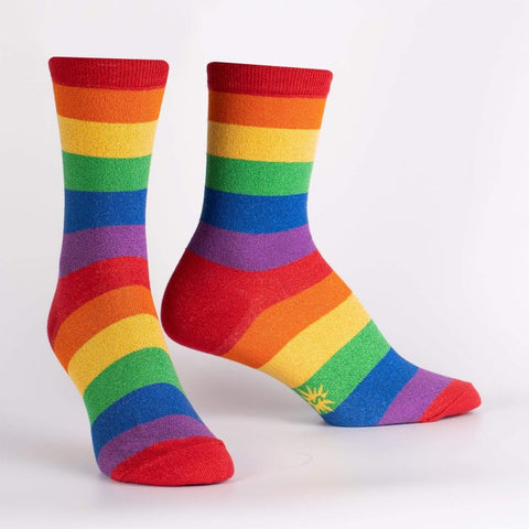 Radiant Rainbow Crew Socks