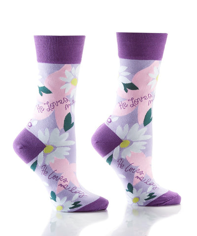 He Loves Me Women's Crew Sock