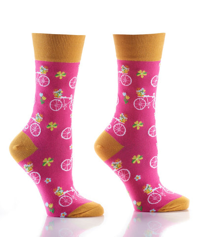 Flower Power Womens Crew Socks