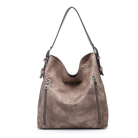 Espresso Alexa Distressed 2 in 1 Hobo Bag
