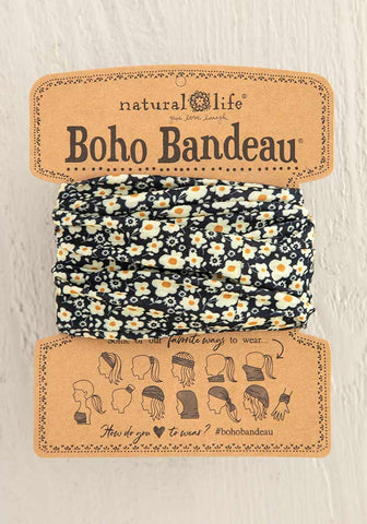 Black & Cream Boho Bandeau