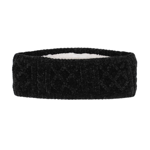 Adult Black Chenille Headband