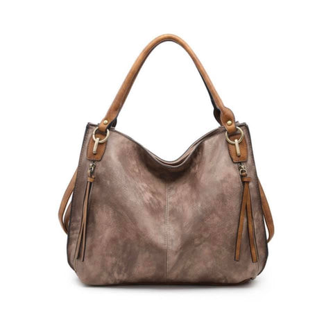 Espresso Connar Distressed Satchel