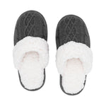 Grey Cable Knit House Slippers