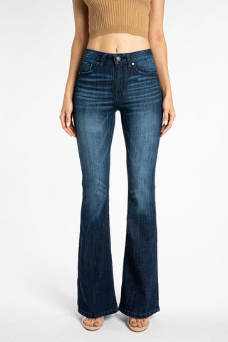 Mid Rise Flare Jeans- Kan Can