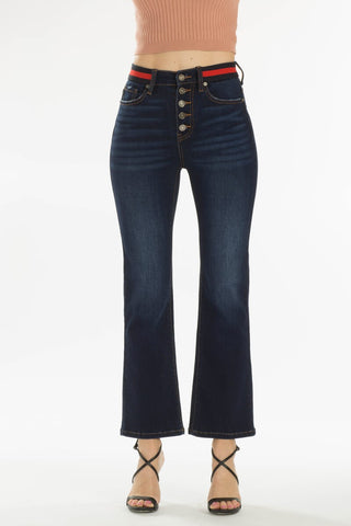 High Rise Bootcut Flare with Waist Detail