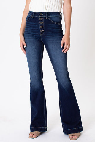 High Rise Button Fly Bell Bottoms