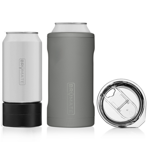 HOPSULATOR TRÍO 3-IN-1 | MATTE GRAY (16OZ/12OZ CANS)