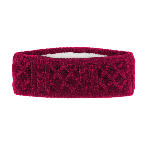 Adult Raspberry Chenille Headband