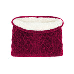 Adult Raspberry Chenille Snood