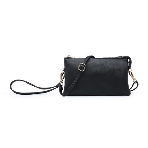 Riley Compartment Wristlest/Crossbody Black