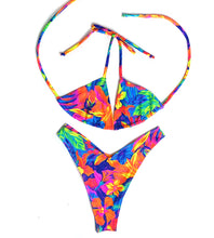 Load image into Gallery viewer, Floral Thong Bikini Set
