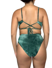 Load image into Gallery viewer, Green Tie Dye - High Waist Bikini Set