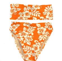 Load image into Gallery viewer, Hawaiian Floral Bandeau Bikini Set