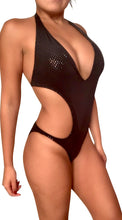 Load image into Gallery viewer, Black Monokini Bathing Suit