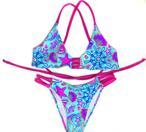 Nautical Print Bikini Set