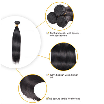 Ali Malaysian Straight 100% Virgin Human Hair Bundle