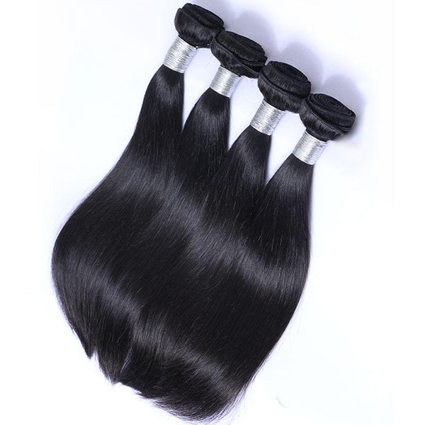 Ali Peruvian Straight 100% Virgin Human Hair 4 Bundles