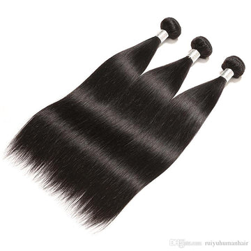 Ali Peruvian Straight 100% Virgin Human Hair 3 Bundles