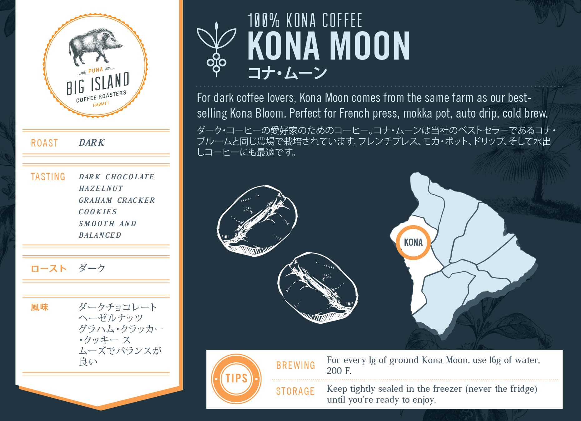 Kona Moon | 100% Kona Coffee, Dark Roast