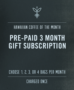 3 Month Hawaiian Coffee Gift Subscription