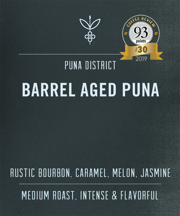 Barrel aged puna hawaiian coffee