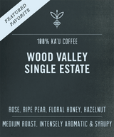 Big Island Coffee Roasters Hawaiian Coffee WV Single Estate | 8 oz Wood Valley Single Estate | 100% Ka'u Coffee | Big Island Coffee Roasters