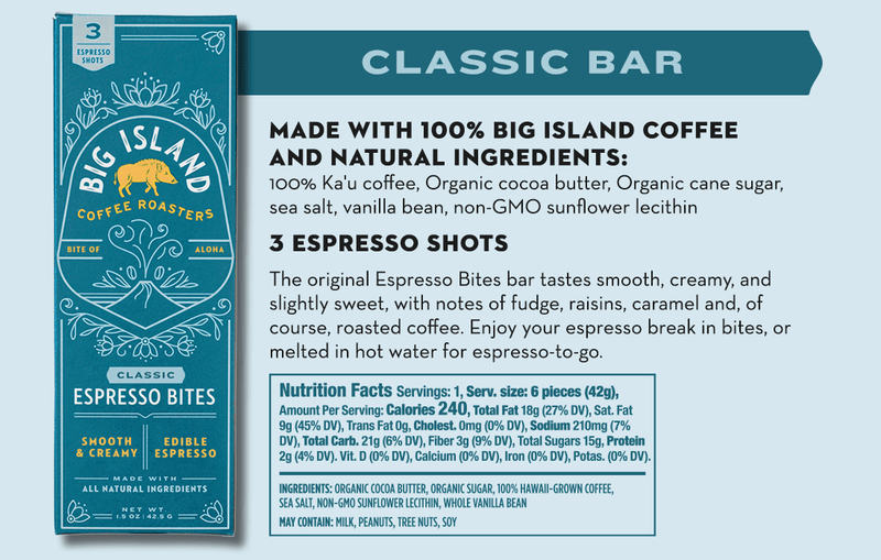 Big Island Coffee Roasters Espresso Bites ESPRESSO BITES MIXED PACK Espresso Bites Mixed Pack | Try All 3 Award-Winning Espresso Bites