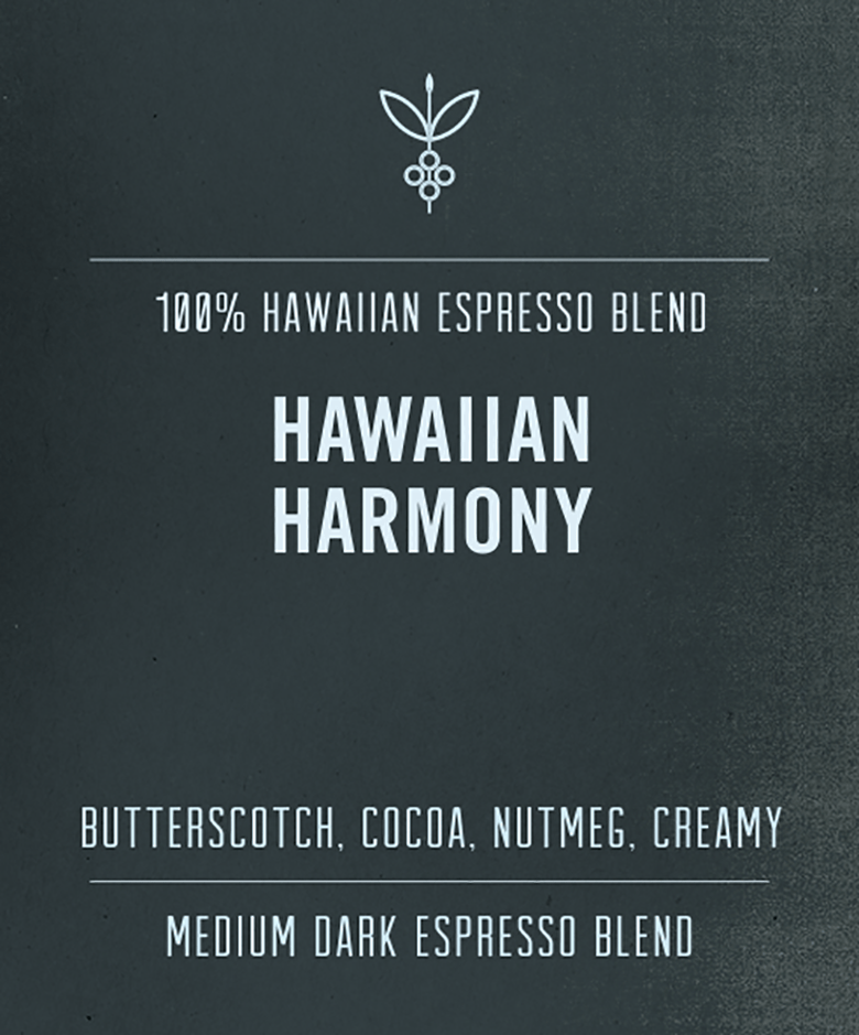 Big Island Coffee Roasters Hawaiian Coffee Hawaiian Harmony | 100% Hawaiian Coffee Hawaiian Harmony | 100% Hawaiian Espresso | Big Island Coffee Roasters