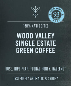 ka'u green coffee beans wood valley