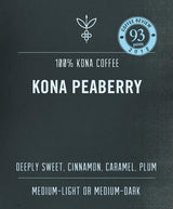 100% Kona Peaberry Coffee