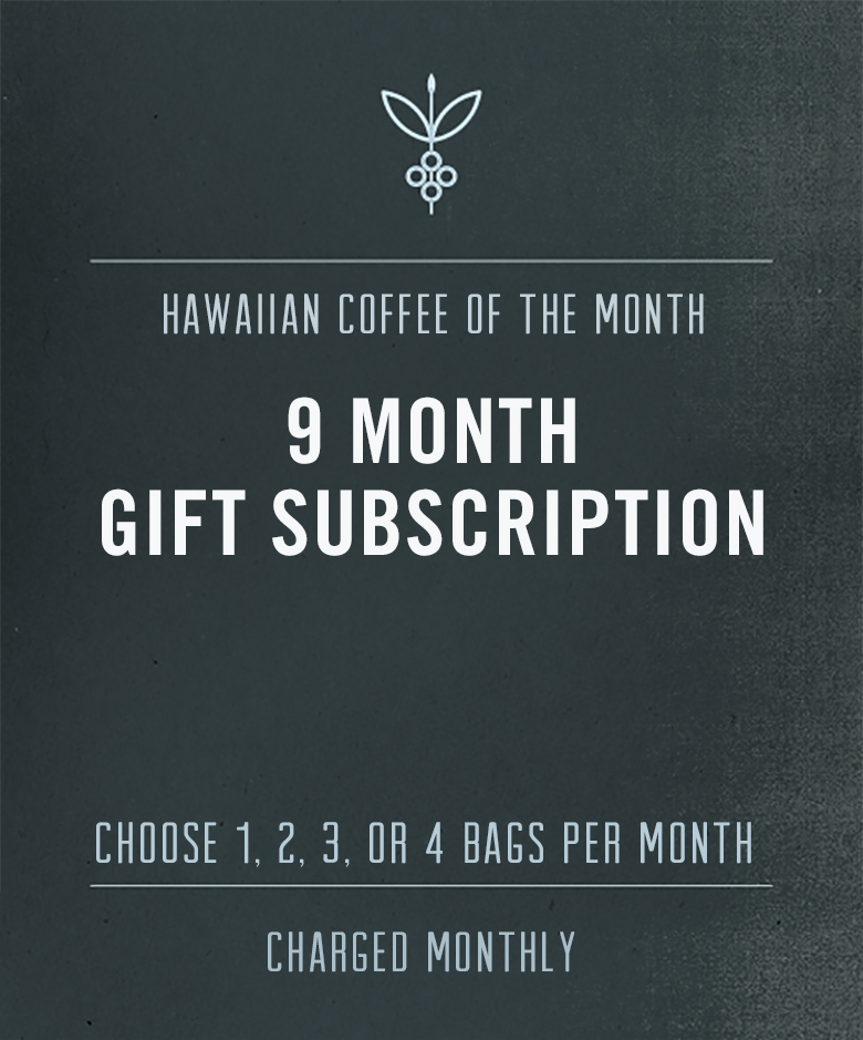 kona coffee subscription - gift 12 months