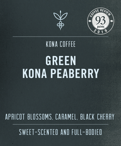 Big Island Coffee Roasters Green Hawaiian Coffee 100% Kona Peaberry Green Coffee 100% Kona Peaberry Green Coffee | Top Rated Kona Peaberry | Green Hawaiian Coffees