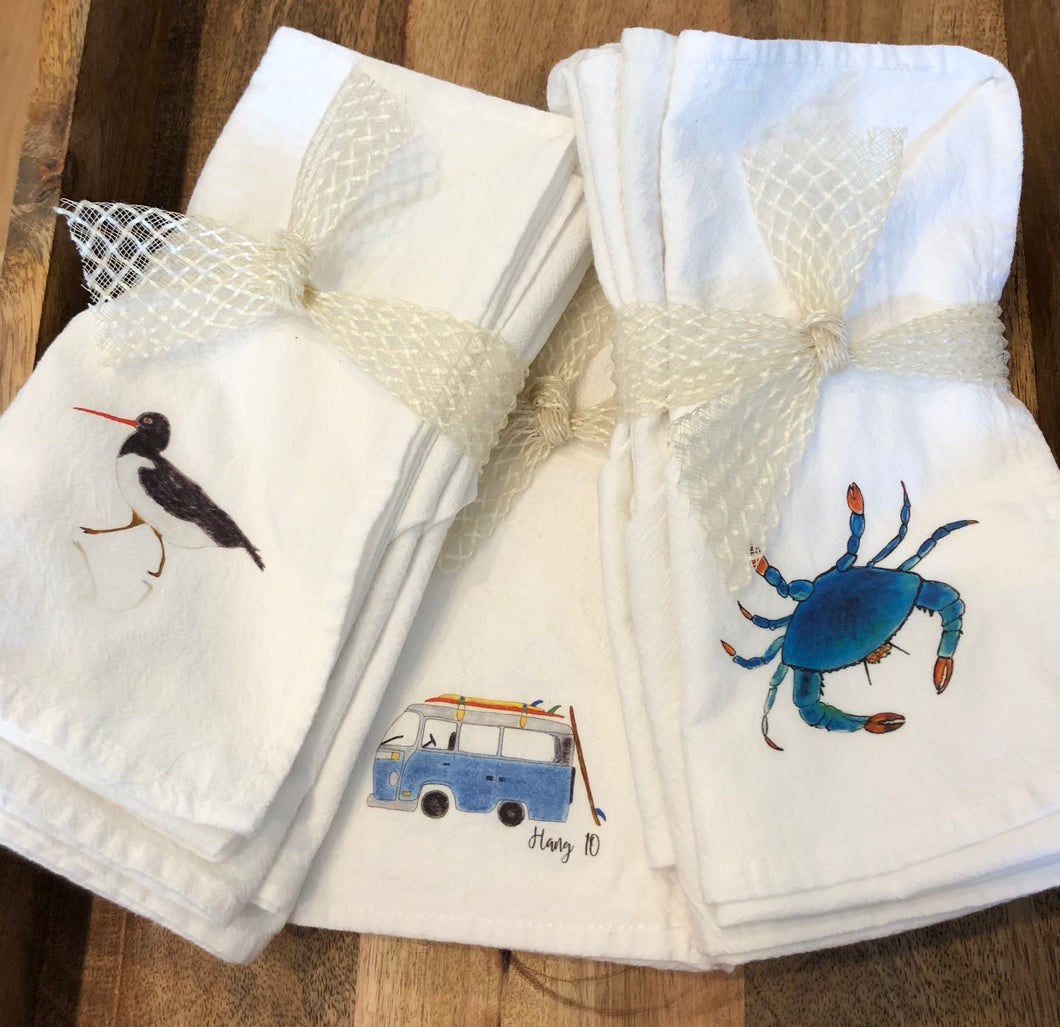 Flour Sack Napkins- Set of 4