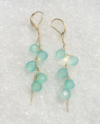 Aqua Waterdrop Earrings