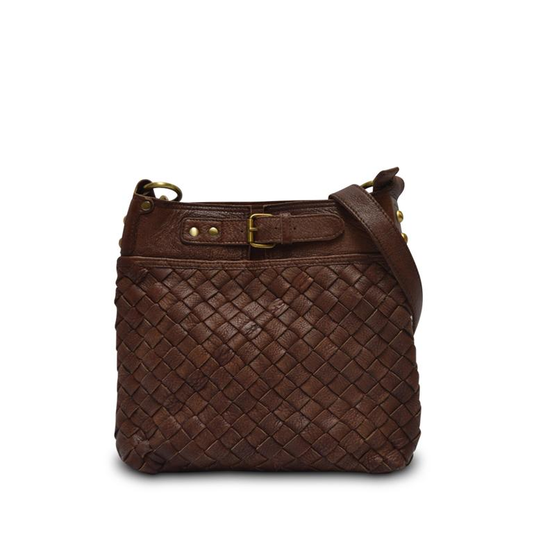 Anabaglish Joan Woven Leather Crossbody Bag