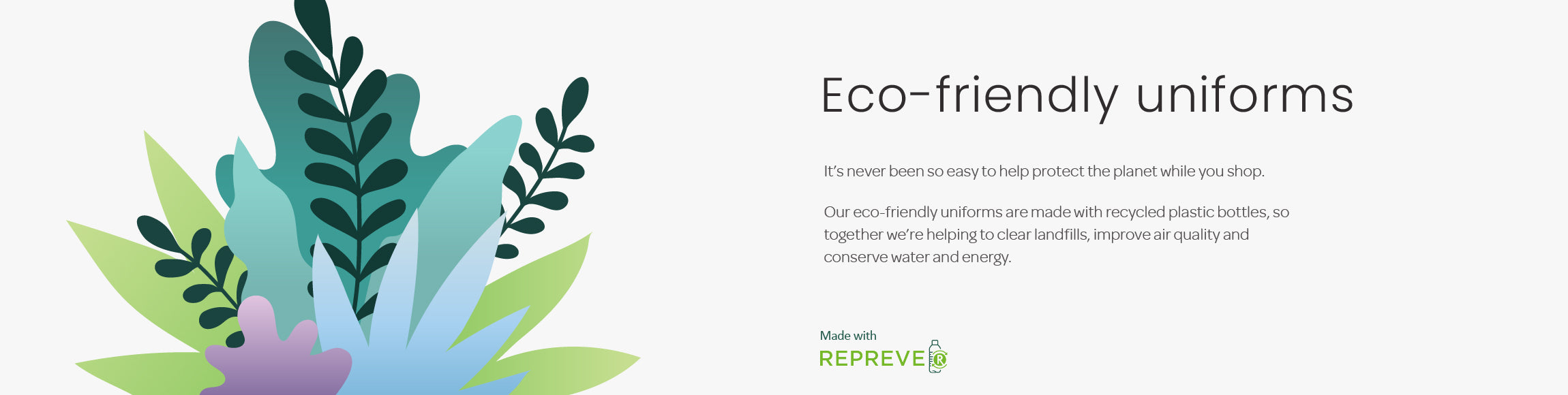 Eco-friendly uniforms, recycled uniforms, sustainable uniforms