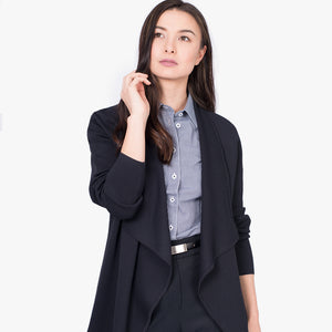 Milano knit waterfall cardigan, French Navy
