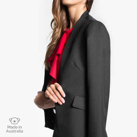 Integrated lapel jacket, Charcoal