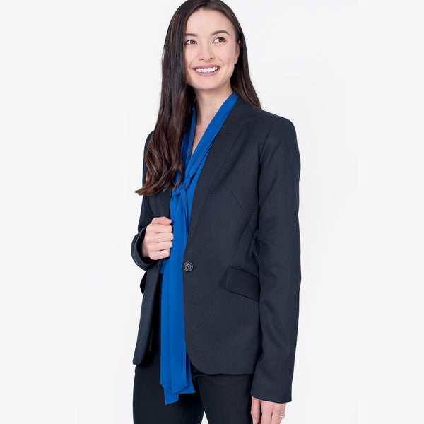 Integrated lapel jacket, French Navy