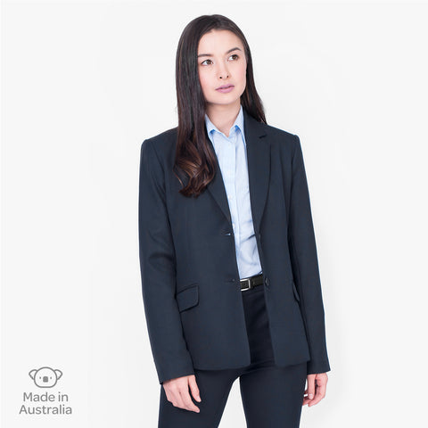 Classic 2-button jacket, French Navy