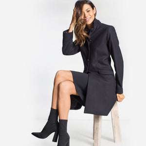 Wool blend overcoat, Navy