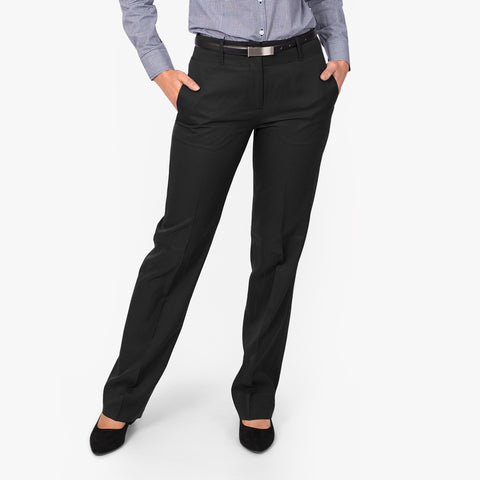 Relaxed leg pant, Black