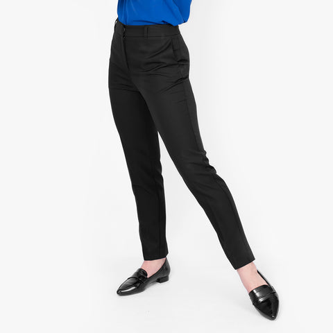 Cropped slim leg pant, Black