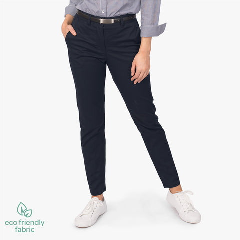Women's slim style chino pant, French Navy