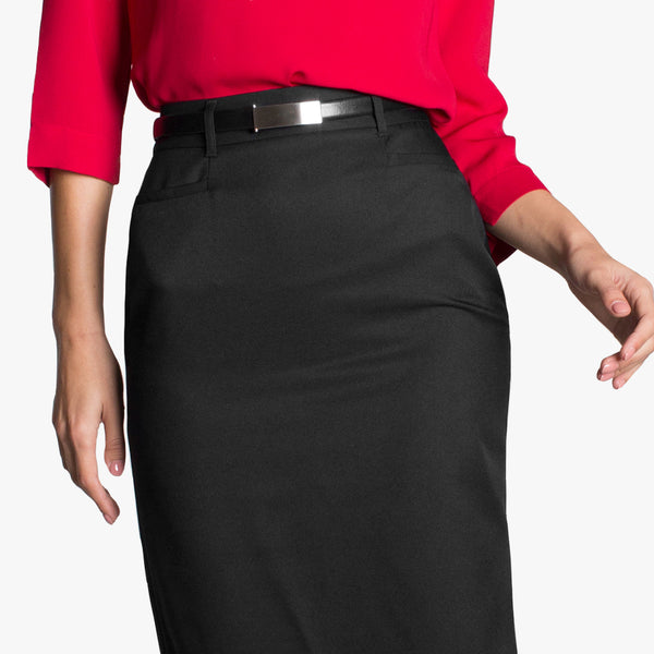 Pencil skirt with pockets, Black